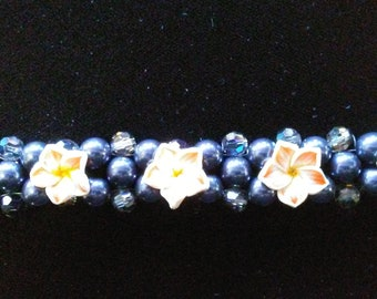 Handmade Swarovski Pearl Bracelet