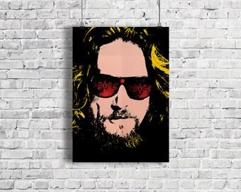 THE BIG LEBOWSKI Poster, The Dude, Big Lebowski Poster, Jeff Bridges Poster, Movie Poster, The Dude Abides, Bowling Art Print, Illustration