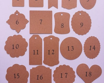25 Custom Favor Tags, Custom Wedding Tags, Custom Thank You Tags