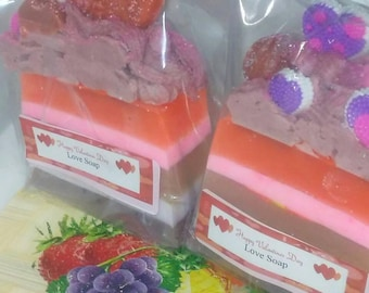 Limited edition Valentine's day soap- Soap- Love soap- multi colored soap