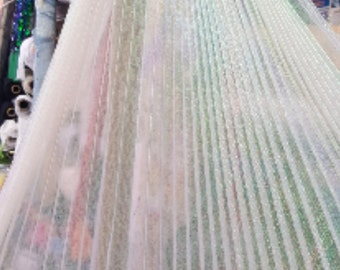 """Accordion  Pleaded organza Iridescent, 54"""" inch, sold by the yard"""