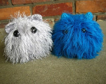 PATTERN- Knitted Cute Furry Monster- *Knitting Pattern Only*