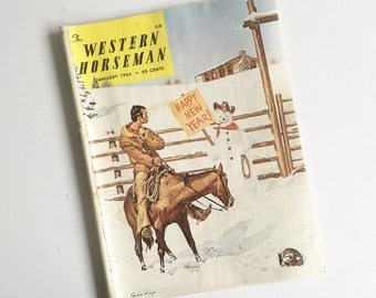 "1960s ""The Western Horseman"" Magazine, Horse Breeding & Training, Cowboy, Rodeo News, Western Magazine"
