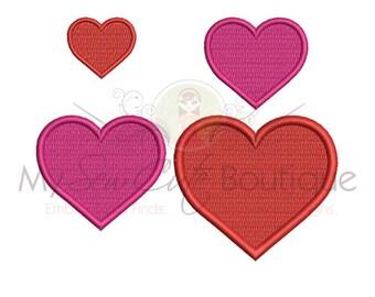 Heart Embroidery Designs Machine Valentine's Day Love Pattern - Valentines Heart Embroidery Designs - 14 Sizes - Instant Download