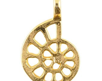 Casting Charm-12x20mm Nautilus Shell-Gold-Quantity 1
