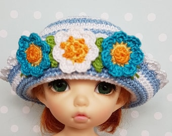 LittleFee Hat Flowers and Stripes