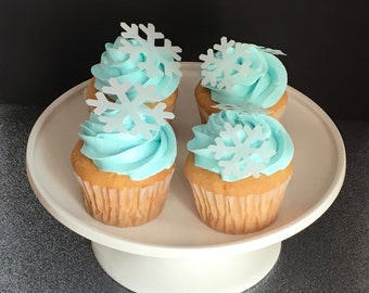Snowflake, Edible Snowflakes Cupcake Toppers, Cake Toppers, Wafer Paper, Choose amount from menu, Please READ Item Details