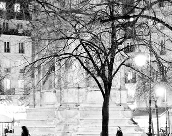 PARIS FRANCE FRENCH Night City Photo Print