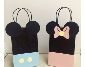 Baby Mickey & Minnie Mouse Party Gift Bags(12) Minnie Mouse Party Hats (12)