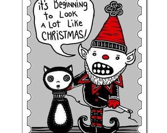 Looks Like Christmas - GingerDead Goth / Alt Greeting Card - Christmas / Holiday Humor