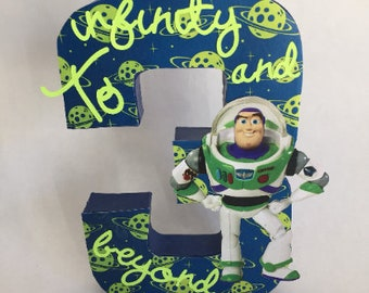 Toy Story number, Toy Story birthday, Buzz number, Toy Story centerpiece, Buzz Lightyear