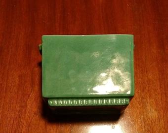 Vintage Heager green rectangular planter box, 3711