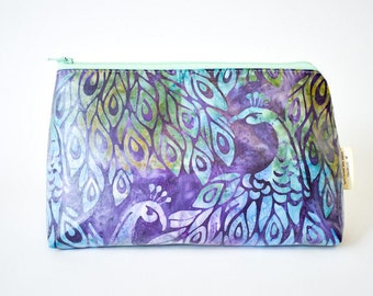 Cosmetic bag, Toiletry bag, Makeup bag, Large zipper pouch, Large pouch, Accessory bag, Diaper clutch, Toddler bag, small diaper bag