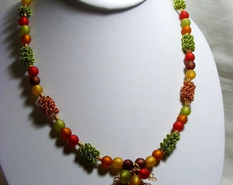 Leaf and Berry Necklace