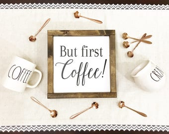 But first Coffee / Coffee sign / Coffee framed / Coffee framed sign