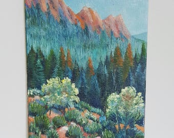 Mountain Forest - Oil Painting