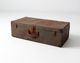 vintage metal luggage suitcase