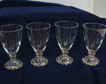 Vintage Anhcor Hocking Boopie glass juice glasses-set of 4
