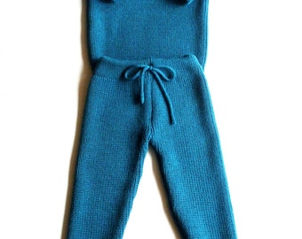 Babies/Children's/Toddlers Virgin wool round neck sweater and pants set/outfit/trousers/leggings/pullover/spring
