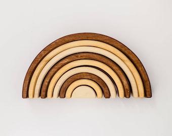 Wooden stacker | Rainbow toy | Natural stacking toy| Wooden rainbow | Montessori | Waldorf toy | Educational toys | Nursery decor |Wood toys