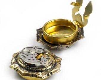 Vintage Watch Octagon Bezel Steampunk Cuff Button Covers