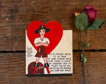 Vintage Valentine, Vintage Candy Valentine