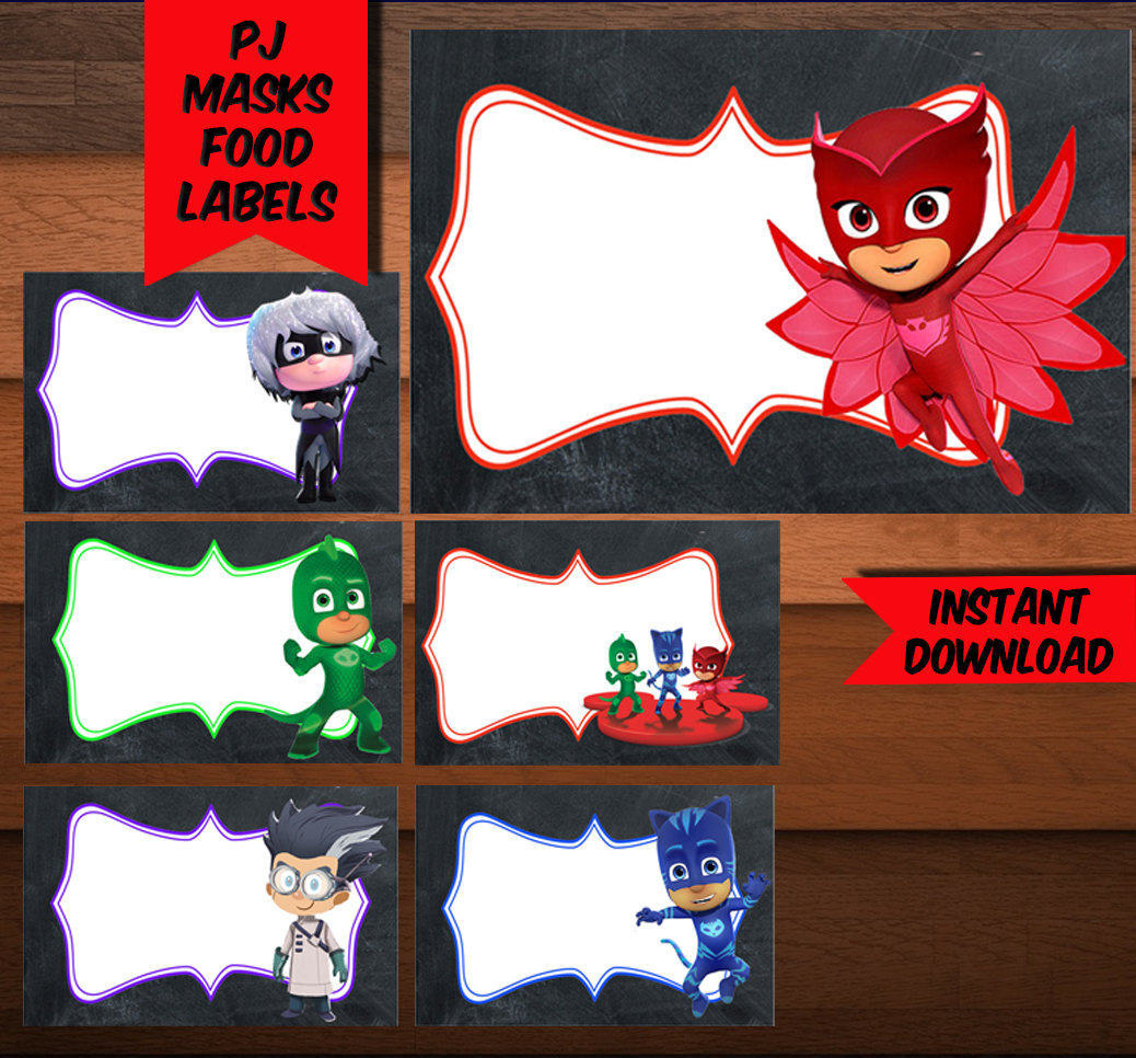 This is a picture of Persnickety Pj Masks Mask Printable