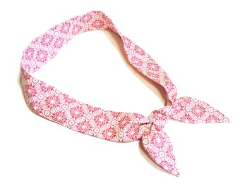 Cooling Neck Wrap, Pink Stay Cool Tie Bandana Scarf, Gel Neck Cooler, Body Head Heat Relief Headband or Hair Band, Cool Tie iycbrand