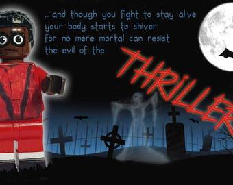 Michael Jackson Thriller Werewolf Zombie Lego Tribute Minifigure