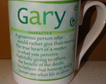Gary personal Mug, Name Mug, Coffee Mug, Coffee Cup, Green Coffee Mug, Personality, Meaning, Character