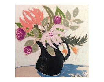 Floral Painting, Artworks for walls, Flowers Art, Marisa Añón