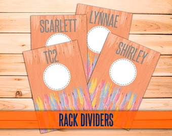 "Clothing Rack Dividers! H O Approved Fonts and Colors! 4x6"" Print Ready; hanger tags; Pop-Up Boutique; clothing dividers; INSTANT DOWNLOAD!"