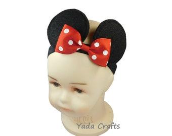 Mickey mouse  Headband /Turban/Minnie Ears Elastic/Costume/Party/Birthday/Photo pop/Halloween/Mickey ears /Baby shower/Minnie mouse headband