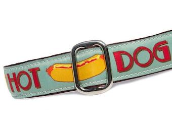 "1"" Dog Collar Hot Diggity Dog! - Choose Your Collar Style!"