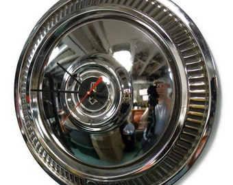 Vintage Aftermarket 1975 - 1980 Plymouth Fury Volare Hub Cap Wall Clock - 1976 1977 1979 Knock Off Design Hubcap