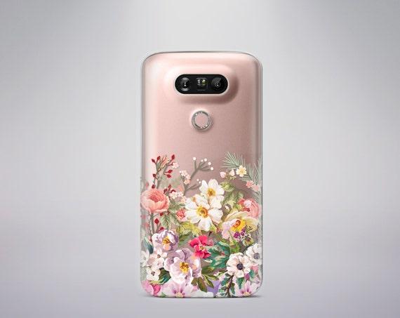 Lg G5 Case Floral LG G4 case Clear Note 5 Case Clear Samsung Galaxy S8 Case Floral Samsung Galaxy S7 Case Samsung Galaxy S8 Plus Case