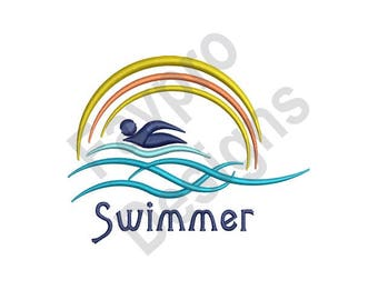 Swimmer - Machine Embroidery Design