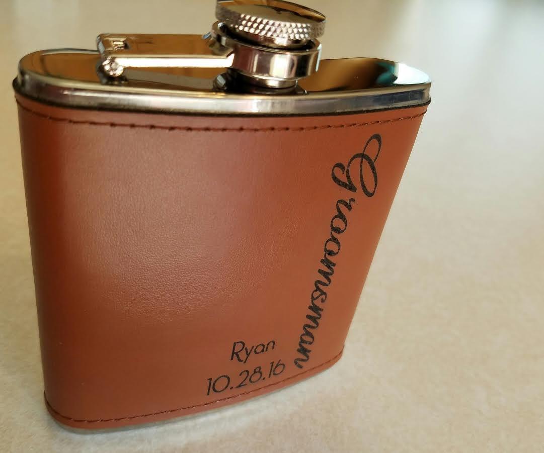 Groomsmen Gifts Personalized Flask Engraved Flask Groomsman Gift