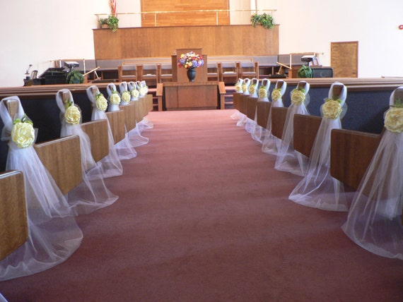 In Many Colors Pew Bows Chair Bows Wedding Bows Pew Church