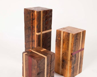 Reclaimed Wood Plant Stands