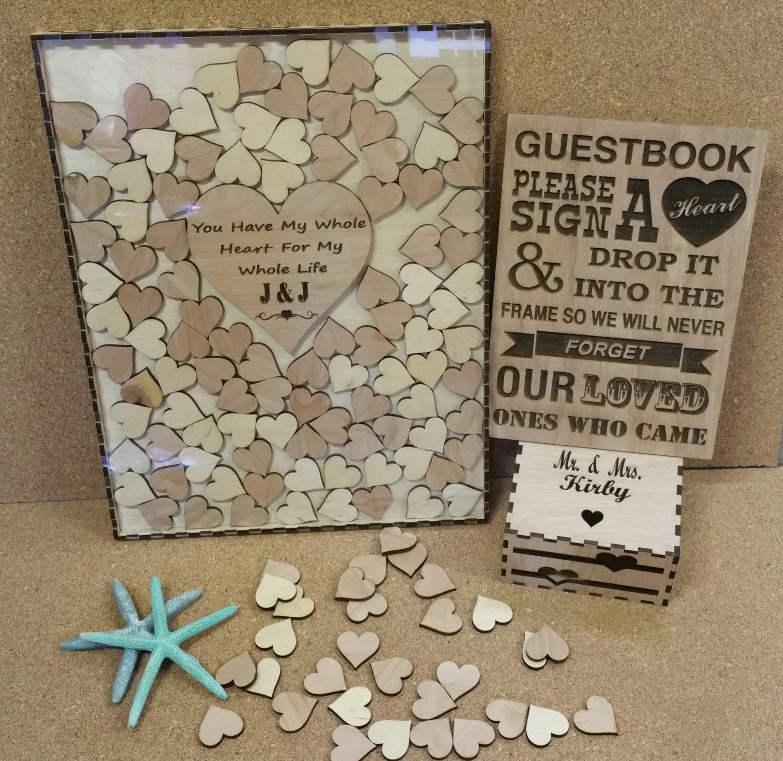 200 Heart Wedding Guest book drop box Alternate Guestbook