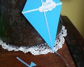 "birth announcement / christening / wedding ""kite, cloud and stars"""