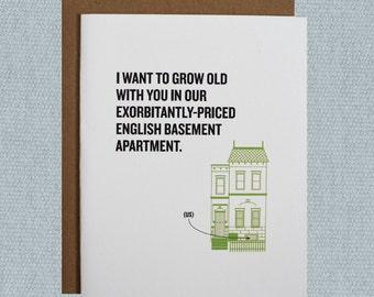 Funny love card, Love Greeting Card, Anniversary Card, Washington DC Card, Millennial Struggles Card, Love Humor, DC Art, just because blank