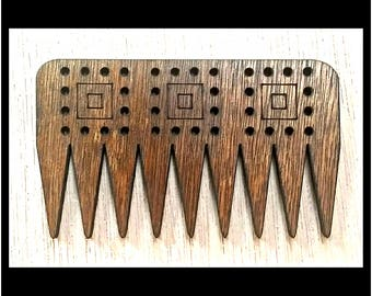 "Stitchable ""B Squared"" Wooden Weaving Comb Beater DIY *Walnut/ Cherry/ Red Chestnut/ Jacobean Finish*"