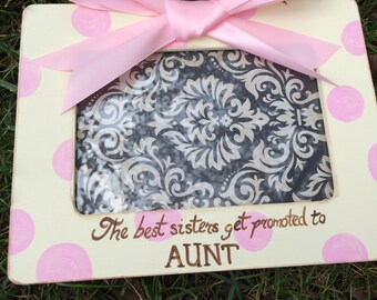 1 Ultrasound New Aunt  Picture Frame  Sonogram, New Baby Announcement, Grandparents,Sister