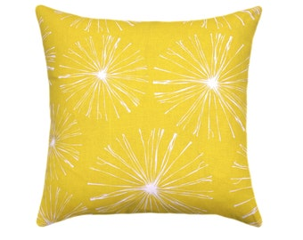 Yellow Pillow Cover, Euro Sham Decorative Throw Pillow Cover, Sparks Mimosa Yellow Pillow, Yellow Cushion Cover, Yellow and White Pillows