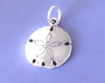 1 Sterling Silver Sand Dollar Pendant / Charm, Made in USA