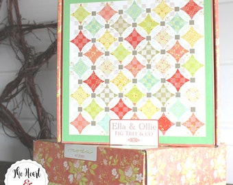 "Nine Patch Waltz Quilt Kit ~ Ella and Ollie by Fig Tree & Co for Moda 66"" x 66"""