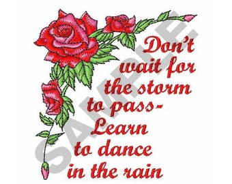 Dance In The Rain - Machine Embroidery Design