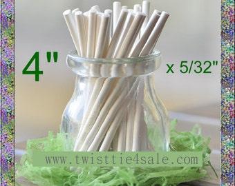 """1200pcs 4"""" x 5/32"""" Paper  Lollipop Sticks for Cake Pops"""